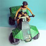 Lara auf dem Quadbike - Papiermodel