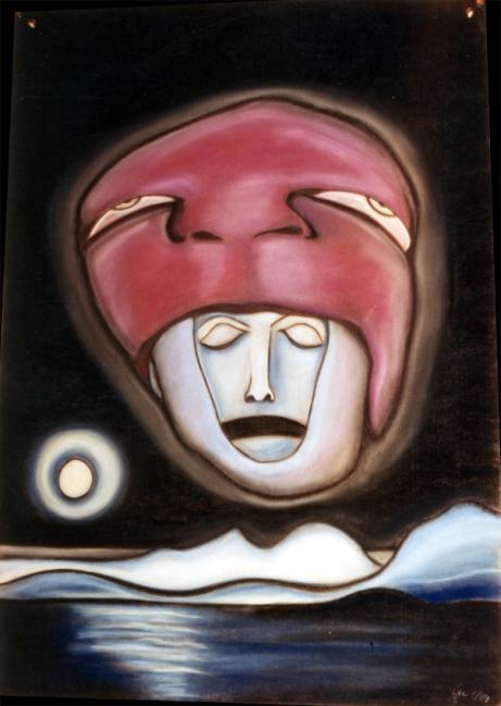 Pastellkreide auf Pappe/1989